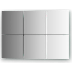 Зеркальная плитка Evoform Reflective с фацетом 10 мм, 20 х см, комплект 6 шт. (BY 1503)