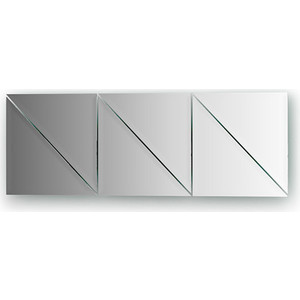 Зеркальная плитка Evoform Reflective с фацетом 10 мм, 20 х см, комплект 6 шт. (BY 1515)