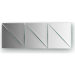 Зеркальная плитка Evoform Reflective с фацетом 15 мм, х см, комплект 6 шт. (BY 1537)