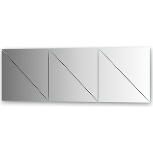 Зеркальная плитка Evoform Reflective с фацетом 15 мм, 50 х см, комплект 6 шт. (BY 1547)