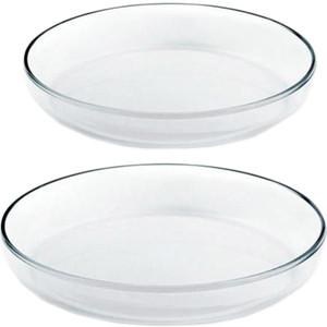 Посуда для СВЧ Васильевское стекло Набор из 2-х лотков 26 и 28 см (0788) набор из 2 х лотков прованс ejiry