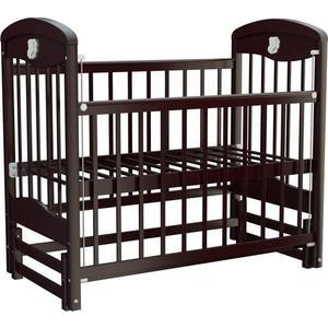 Кроватка Briciola 2 маятник продольный автоматический темная