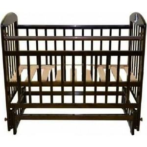 Кроватка Briciola 9 маятник продольный автоматический темная кроватка briciola 9 маятник продольный автостенка белая br0901