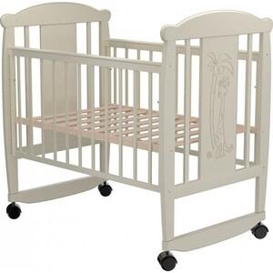 Кроватка Valle Cat 02 колесо-качалка без ящика слоновая кость кроватка гандылян дашенька колесо качалка белый