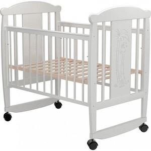 Кроватка Valle Giraffe 02 колесо-качалка без ящика белый кроватка гандылян дашенька колесо качалка белый
