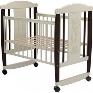 Кроватка Valle Giraffe 02 колесо-качалка без ящика венге-слоновая кость кроватка daka baby укачай ка 02 цвет венге