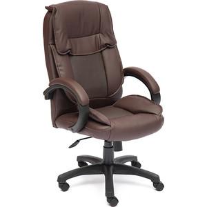 Кресло TetChair OREON кож/зам коричневый/коричневый перфорированный 36-36/36-36/06 цена и фото