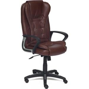 цена Кресло TetChair BARON кож/зам коричневый/коричневый перфорированный 2 TONE/2 TONE /06 онлайн в 2017 году