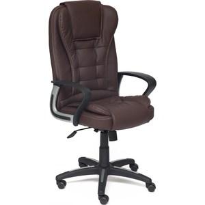 Кресло TetChair BARON кож/зам коричневый/коричневый перфорированный 36-36/36-36/06 кресло tetchair runner кож зам ткань черный жёлтый 36 6 tw27 tw 12