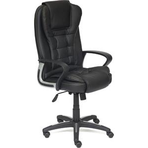 где купить Кресло TetChair BARON кож/зам черный/черный перфорированный 36-6/36-6/06 по лучшей цене