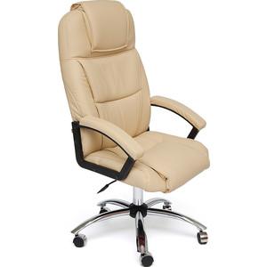 цена на Кресло TetChair BERGAMO (хром) кож/зам бежевый 36-34