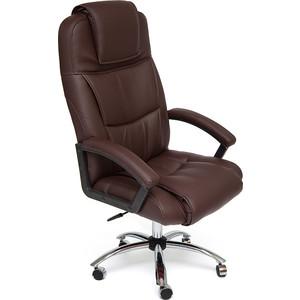Кресло TetChair BERGAMO (хром) кож/зам коричневый 36-36