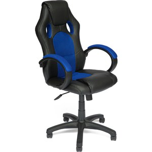 Кресло TetChair RACER GT кож/зам/ткань черный/синий 36-6/10 кресло tetchair runner кож зам ткань белый синий красный 36 01 10 08