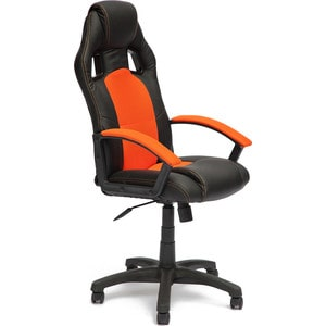 Кресло TetChair DRIVER кож/зам/ткань черный/оранжевый 36-6/07 кресло tetchair runner кож зам ткань черный оранжевый 36 6 tw 07 tw 12