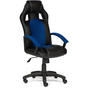 Кресло TetChair DRIVER кож/зам/ткань черный/синий 36-6/10