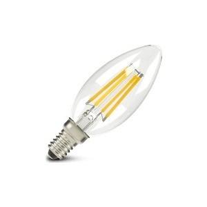 Филаментная светодиодная лампа X-flash XF-E14-FL-C35-4W-2700K-230V Артикул 48632 XF-E14-FL-B35-4W-2700K-230V 47611