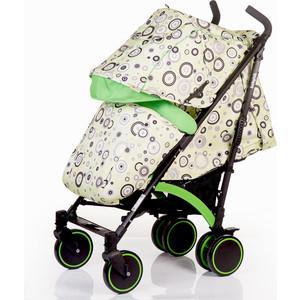 Коляска трость BabyHit Rainbow зеленая с кругами коляска трость babyhit matoz polo коричнево зелёная