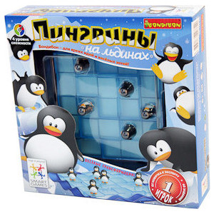 Логическая игра Bondibon Пингвины на льдинах арт SG 155 RU