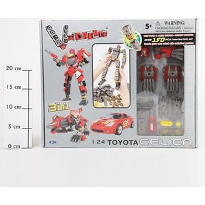 Робот - трансформер Happy Well Happy Well 3в1 BOX 1:24 Toyota Celica 150 дет арт 54010
