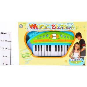 Музыкальный инструмент Potex на батар Синтезатор Music Station 25 клав арт 652B-blue детский музыкальный инструмент сима ленд синтезатор с микрофоном музыкант green 1689051