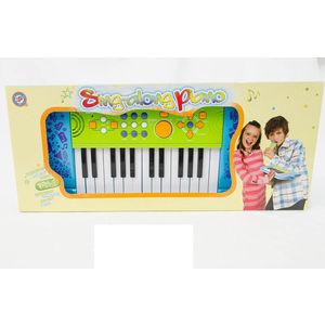 Музыкальный инструмент Potex на батар Синтезатор Sing-Along Piano 25 клав арт 539A-blue детский музыкальный инструмент сима ленд синтезатор с микрофоном музыкант green 1689051