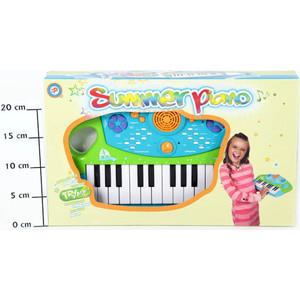 Музыкальный инструмент Potex на батар Синтезатор Summer Piano 25клав арт 658В детский музыкальный инструмент сима ленд синтезатор с микрофоном музыкант green 1689051