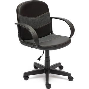 купить Кресло TetChair BAGGI кож/зам/ткань, черный/серый, 36-6/207 по цене 3589.5 рублей