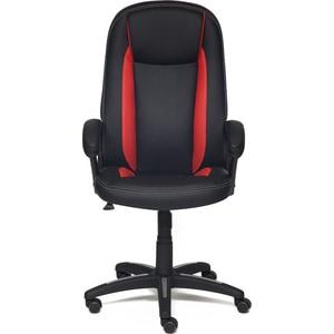 Кресло TetChair BRINDISI кож/зам, черный/красный/черный перфорированный, 36-6/36-161/36-6/06 цена и фото