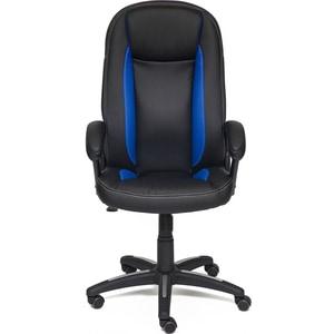 Кресло TetChair BRINDISI кож/зам, черный/синий/черный перфорированный, 36-6/36-39/36-6/06 цена