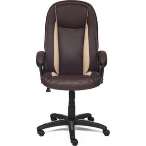 все цены на Кресло TetChair BRINDISI кож/зам, коричневый/бежевый/коричневый перфорированный, 36-36/36-34/06 онлайн