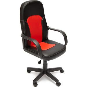 Кресло TetChair PARMA кож/зам, черный/красный, 36-6/36-161