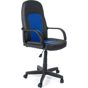 цена Кресло TetChair PARMA кож/зам, черный/синий, 36-6/36-39 онлайн в 2017 году
