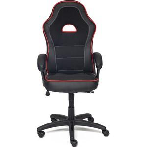 Кресло TetChair SHUMMY кож/зам+ткань, черный+красный, 36-6/36-161/11 кресло tetchair runner кож зам ткань белый синий красный 36 01 10 08