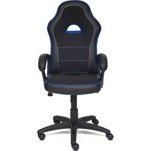 Кресло TetChair SHUMMY кож/зам+ткань, черный+синий, 36-6/36-39/11 кресло tetchair baggi кож зам ткань черный бежевый 36 6 12