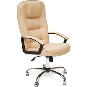 Кресло TetChair СН9944 хром, кож/зам, бежевый, 36-34