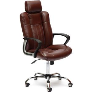 Кресло TetChair OXFORD хром кож/зам, коричневый/коричневый перфорированный, 2 TONE/2 TONE /06