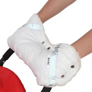 Муфта для коляски BamBola шерстяной мех/плащевка/кнопки Белая (053В)