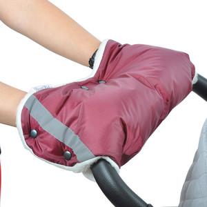 Муфта для коляски BamBola шерстяной мех/плащевка/кнопки Бордо аксессуары для колясок bambola чехлы на колёса для коляски с поворотными колесами