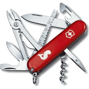 """Нож перочинный Victorinox Angler 1.3653.72 (91мм, 18 функций, красный с логотипом """"рыба"""")"""