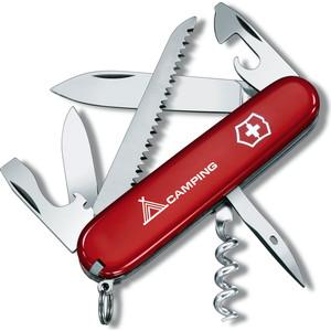 """Нож перочинный Victorinox Camper 1.3613.71 (91мм, 13 функций, красный с логотипом """"camping"""")"""