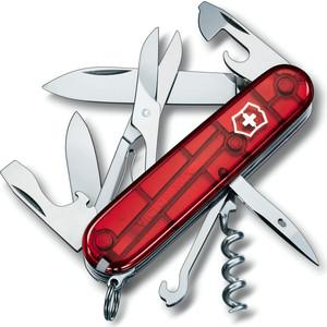 Нож перочинный Victorinox Climber 1.3703.T (91мм 18 функций, полупрозрачный, красный)
