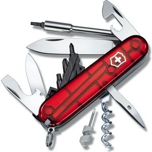 Нож перочинный Victorinox CyberTool 29 1.7605.T (91мм, 29 функций, полупрозрачный, красный)