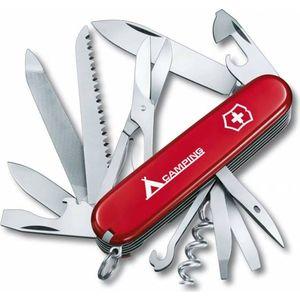 """Нож перочинный Victorinox Ranger 1.3763.71 (91мм, 21 функция красный с логотипом """"camping"""")"""