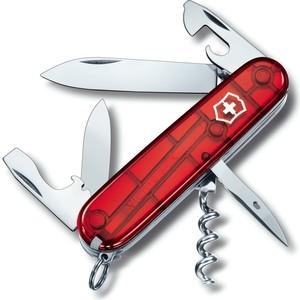 Нож перочинный Victorinox Spartan 1.3603.T (91мм, 12 функций, полупрозрачный, красный)