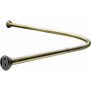 Карниз для ванны Elghansa Monterno угловой, с кольцами, 920х920 мм, бронза (CR-4-Bronze) кронштейн модена 4 12 мм бронза
