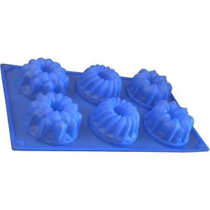 Форма для кексов 6 ячеек Regent Silicone Ассорти (93-SI-FO-26)