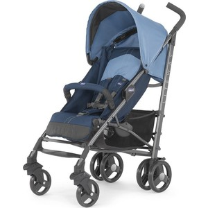 цена на Коляска трость Chicco Lite Way Top Stroller цвет Blue с бампером