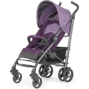 цена на Коляска трость Chicco Lite Way Top Stroller цвет Purple с бампером