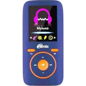 MP3 плеер Ritmix RF-4450 4Gb blue/orange mp3 плеер ritmix rf 4450 4gb blue orange