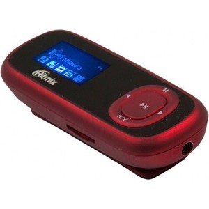 MP3 плеер Ritmix RF-3410 4Gb red mp3 плеер ritmix rf 4850 8gb dark red